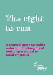 right to run.indd - Social Enterprise UK