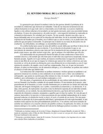 Georges Bataille - Facultad de Ciencias Sociales