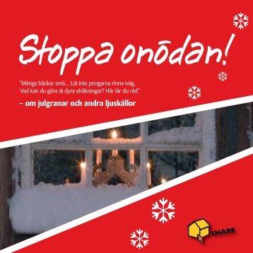 – om julgranar och andra ljuskällor - SHARE - Social Housing Action ...