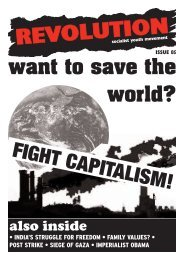 FIGHT CAPITALISM! - Revolution Socialist Youth