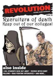 Recruiters of death - Revolution Socialist Youth