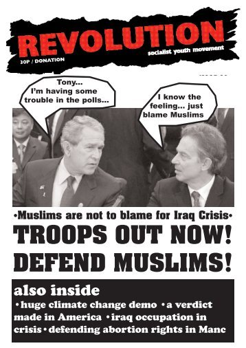 TROOPS OUT NOW! DEFEND MUSLIMS! - Revolution Socialist Youth