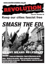 Keep our cities fascist free - Revolution Socialist Youth
