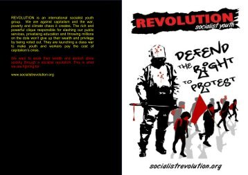 Defend the Right to Protest - Revolution Socialist Youth