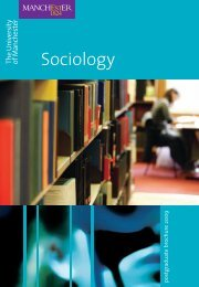 Sociology - School of Social Sciences - The University of Manchester