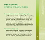 Viešasis genetikos supratimas ir valdymas Europoje - School of ...