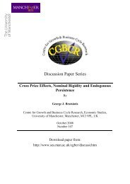 Discussion Paper Series - School of Social Sciences - The ...