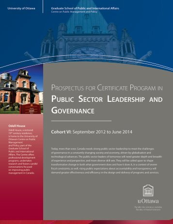 public sector leadership and governance - Faculty of Social Sciences