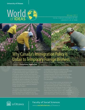 Why Canada's Immigration Policy is Unfair to Temporary Foreign ...
