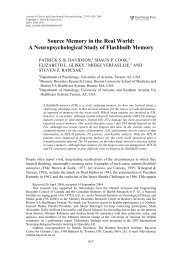 Source Memory in the Real World - Taylor & Francis Online