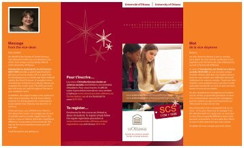 Mot Message Pour t'inscrire… To register… - Faculty of Social ...