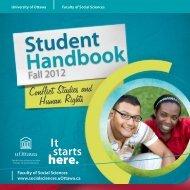 Student Handbook - Faculty of Social Sciences