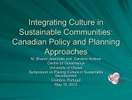 Integrating Culture in Sustainable Communities - Faculty of Social ...
