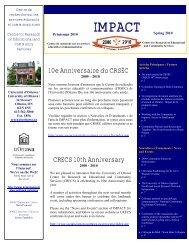 Vol. 10, No. 1 - Spring 2010 - Faculty of Social Sciences - Université ...