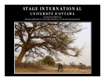 stage international - Faculty of Social Sciences - Université d'Ottawa
