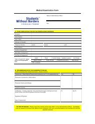 Medical Examination Form - Faculty of Social Sciences