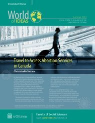 Travel to Access Abortion Services in Canada - Faculty of Social ...