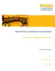 Innovation in Community Governance - Faculty of Social Sciences