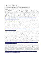 rubrique 1: développement communautaire - Faculty of Social ...