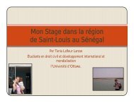 Mon Stage dans la région de Saint-Louis au Sénégal - Faculty of ...