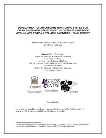 Development of an outcome monitoring system for crisis telephone ...