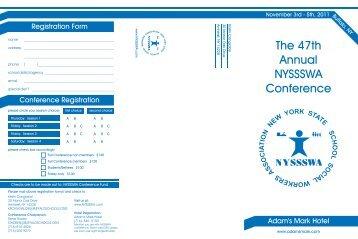 nyssswa brochure.cdr - UB School of Social Work - University at ...
