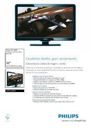 32PFL5604H/12 Philips Televisor LCD con Pixel Plus HD