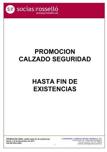 PROMOCION CALZADO SEGURIDAD HASTA FIN DE EXISTENCIAS