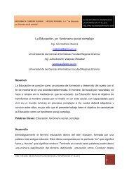1 La Educación, un fenómeno social complejo Resumen Desarrollo