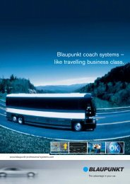 Blaupunkt coach systems – like travelling business class.