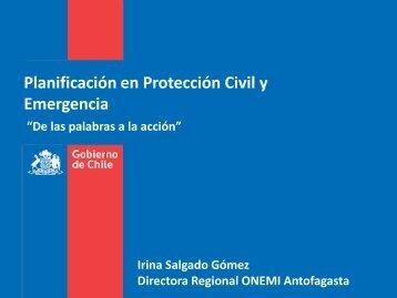 Planificación en Protección Civil y Emergencia - Sociedad ...