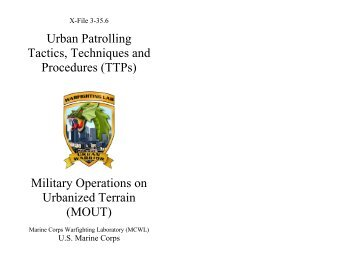 Urban Patrolling Tactics, Techniques and Procedures - Defense ...