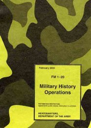 Military History Operations - Federation of American Scientists