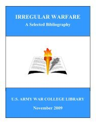 IRREGULAR WARFARE - Foreign Policy
