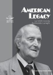 American legacy American legacy - Societa italiana di storia militare