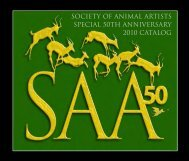 2010 exhibition catalog (pdf 6.1mb) - The Society of Animal Artists