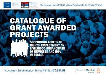 CATALOGUE OF GRANT AWARDED PROJECTS - Socijalna Inkluzija