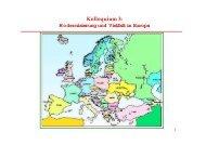 Kolloquium 3: Modernisierung und Vielfalt in Europa - ETH Zürich