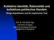 Kollektive Identität, Rationalität und kollektives politisches Handeln