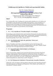 Einführung in die Spieltheorie. Modelle und experimentelle Studien ...