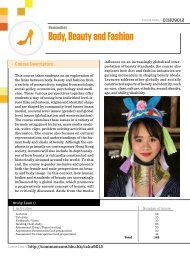 Body, Beauty and Fashion - Department of Sociology