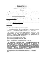 HKPC tutorial topics 2012 - Department of Sociology