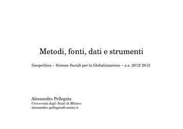 Metodi, fonti, dati e strumenti (8) (Pellegata) - Dipartimento di Studi ...