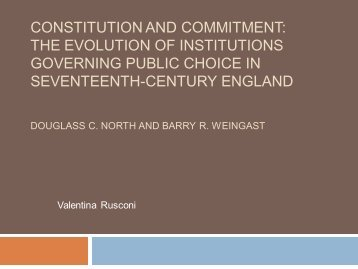 Costitutions and Commitment (North & Weingast)