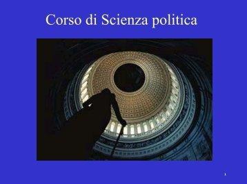 La Politica Struttura del capitolo