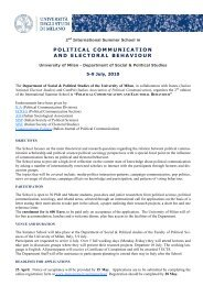 political communication and electoral behaviour - Dipartimento di ...