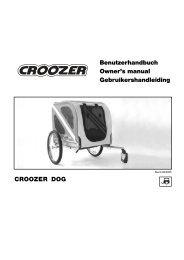 CROOZER DOG Benutzerhandbuch Owner's manual - Bring-a-Baby