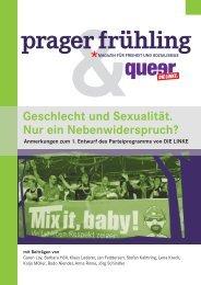 Geschlecht und Sexualität - nur ein ... - prager frühling magazin