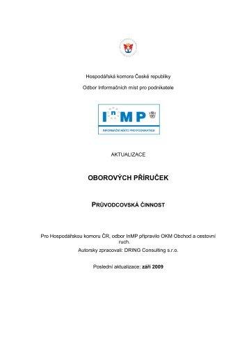 25 Průvodcovská činnost 2009 - Svaz obchodu a cestovního ruchu ČR