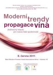 Pozvanka - Moderni trendy propagace vina 2011 - Svaz obchodu a ...